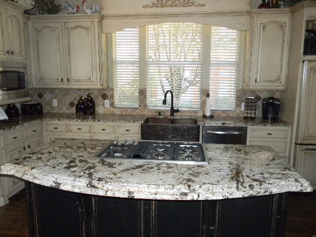 Granite: Bianco Antico Edge: Ogee over Demi